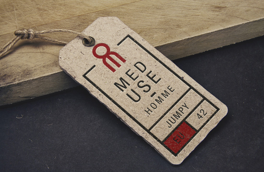 étiquettes réalisées pour la marque méduse