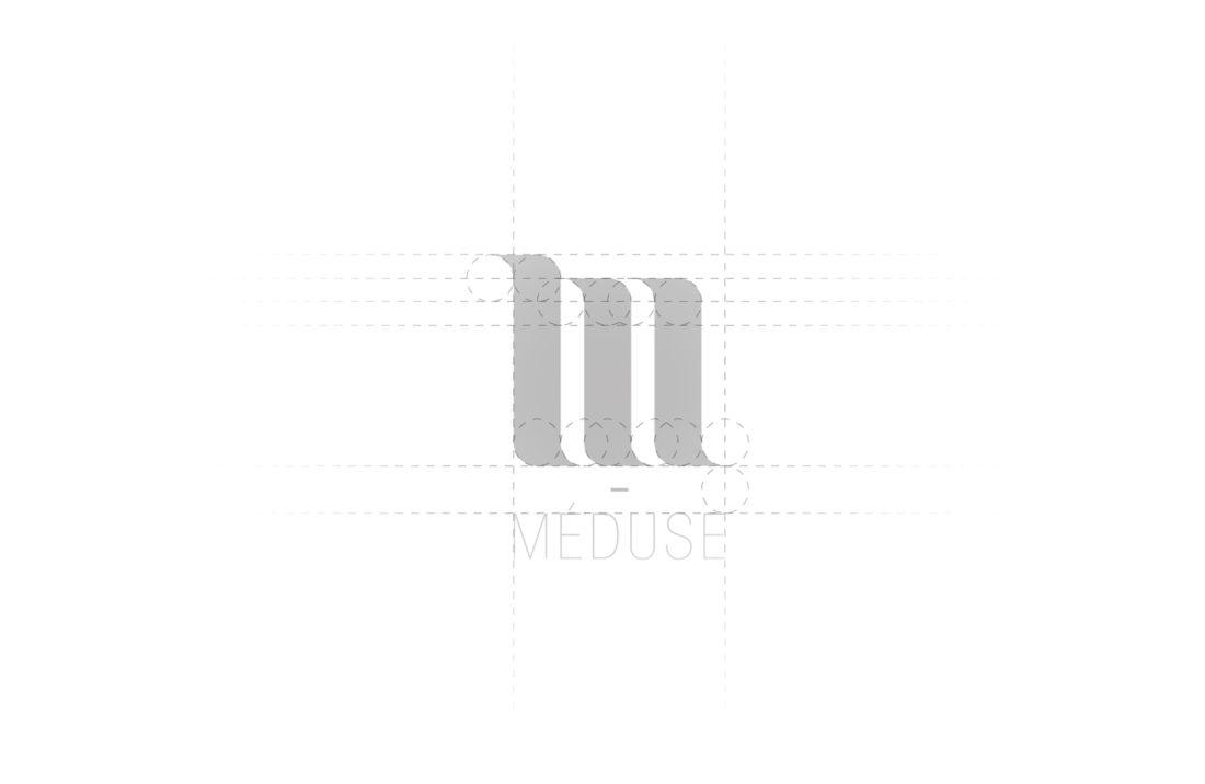 Logo crée pour la marque Méduse