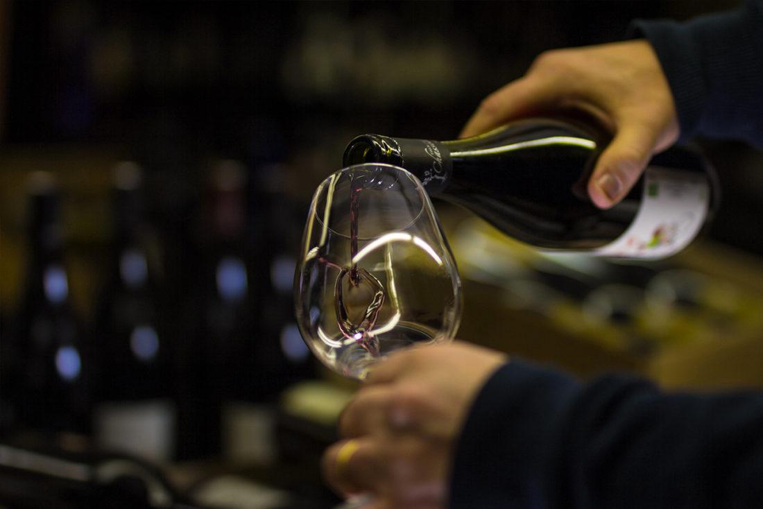 vin en vente à l'épicerie Bauloise